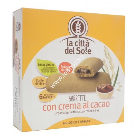 Barrette al Miglio con Crema al Cacao 6x30g - Bio - La Città del Sole