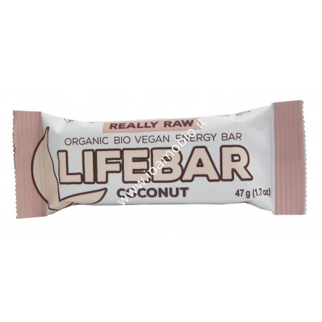Barretta Lifebar al Cocco Raw 47g - Biologica e Cruda