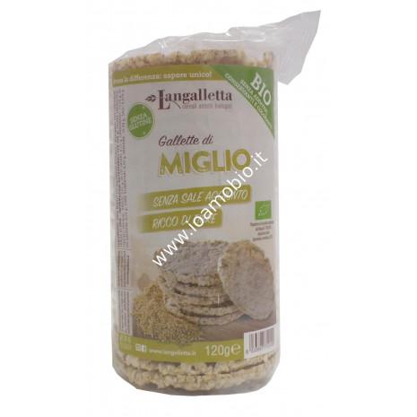 Gallette 100% di Miglio 120g - Biologiche Langalletta d'Alba
