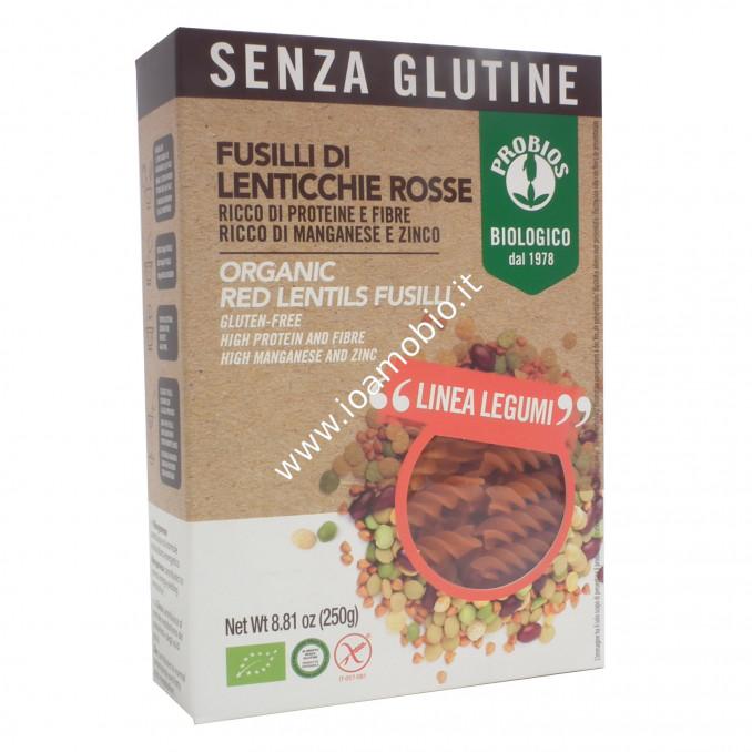 Pasta di Legumi Probios - Fusilli di Lenticchie Rosse 100% Bio 250g