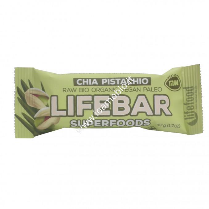 Barretta Lifebar alla Chia ed Erba di Orzo Raw 47g - Biologica e Cruda