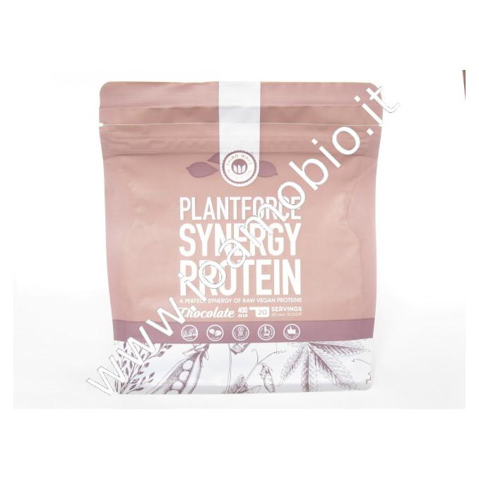 Plantforce Synergy Proteine Cioccolato 400g riso canapa pisello